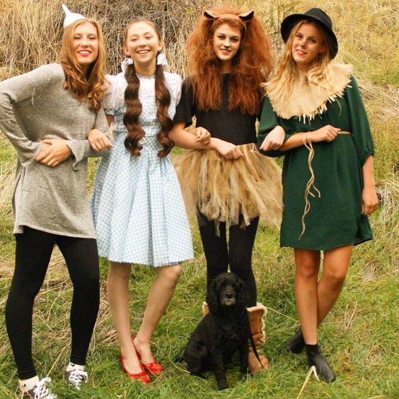 4 People Halloween Costumes Girls.50 Bold And Cute Group Halloween Costumes For Cheerful Girls