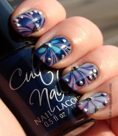 awesome water marble nail art
