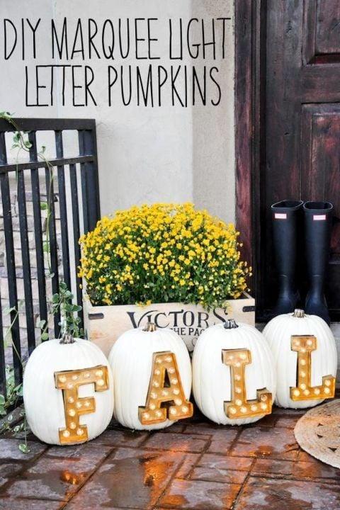 marquee-light-letter-pumpkins
