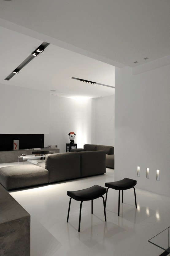minimalist living room photos collected via