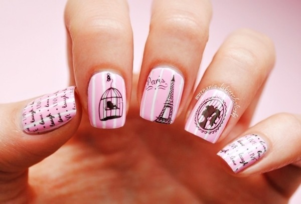 Pink And White Nails Designs 10