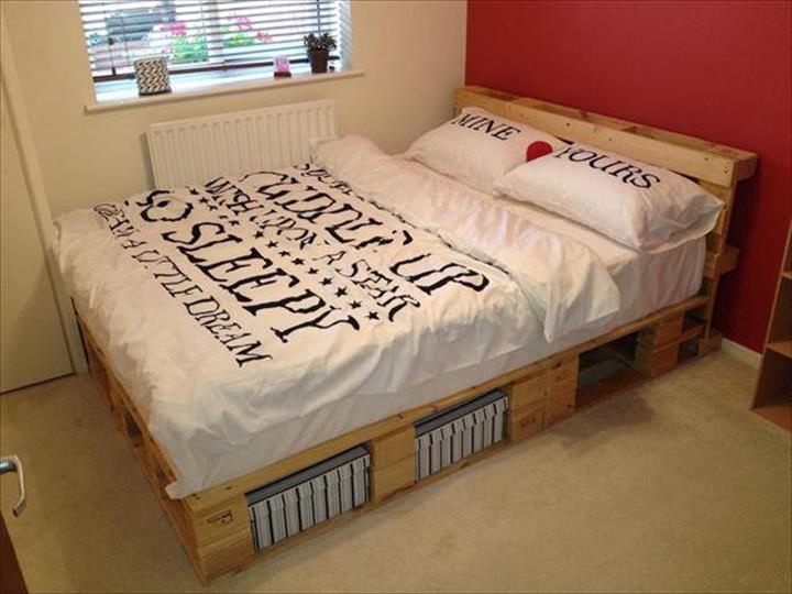 40 Creative Wood Pallet Bed Design Ideas 187 Ecstasycoffee