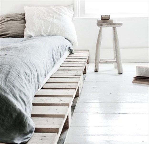 simple pallet bed frame - Wood Pallet Bed Frame