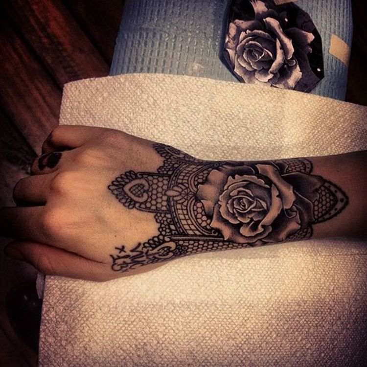 40 Best Lace Tattoos Design Ideas Ecstasycoffee