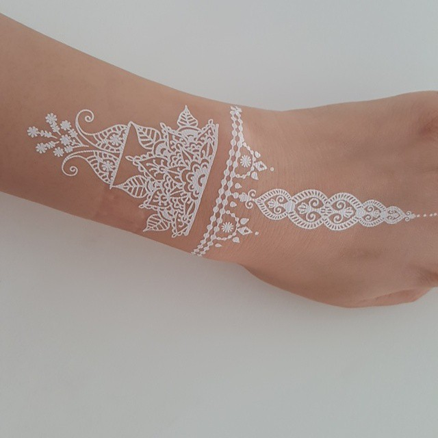 40+ Unique and Elegant White Ink Tattoos You Will Love ...