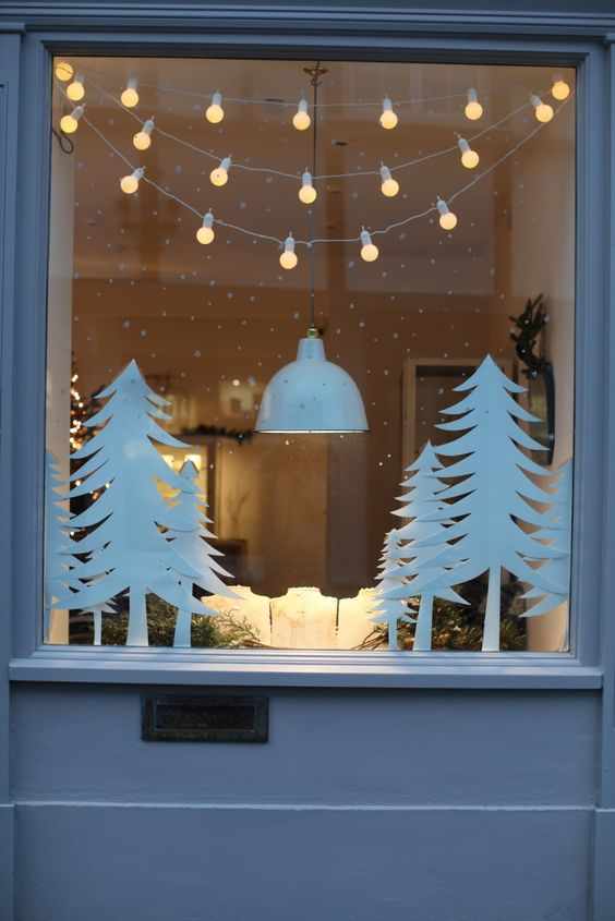 Christmas Window Decor Photos Collected Via Pinterest.com