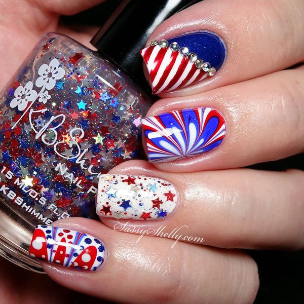 40 Awesome Water Marble Nail Art Designs You'll Want To