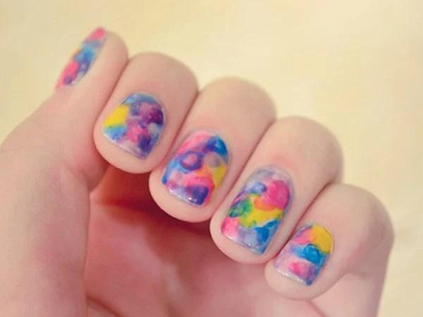 34 Unbelievably Watercolor Nail Art Ideas Ecstasycoffee
