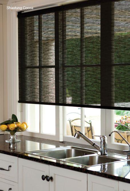 33 Stylish Kitchen Window Blinds Ideas » EcstasyCoffee on wood kitchen ideas, skylight kitchen ideas, window kitchen ideas, roman shades kitchen ideas,