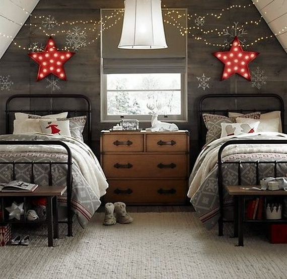 bedroom decor ideas for christmas2 - Christmas Bedroom Decor Ideas