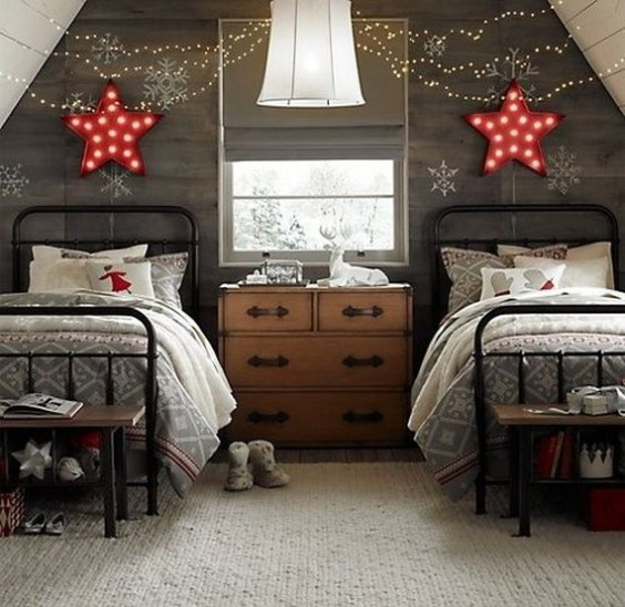 bedroom decor ideas for christmas2