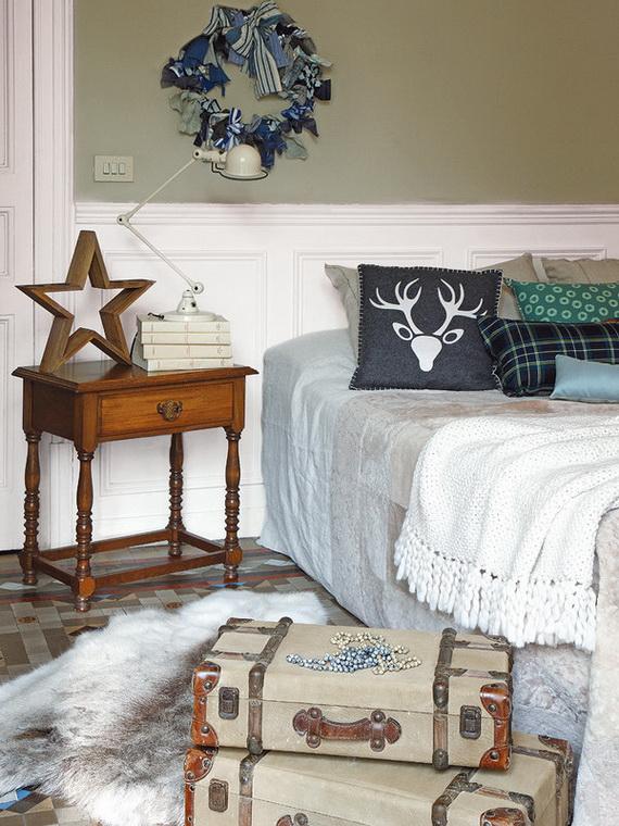 41 Stunning Christmas Bedroom Decorating