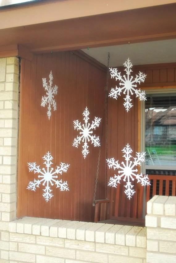 44 Amazing Christmas Snowflake Decorating Ideas