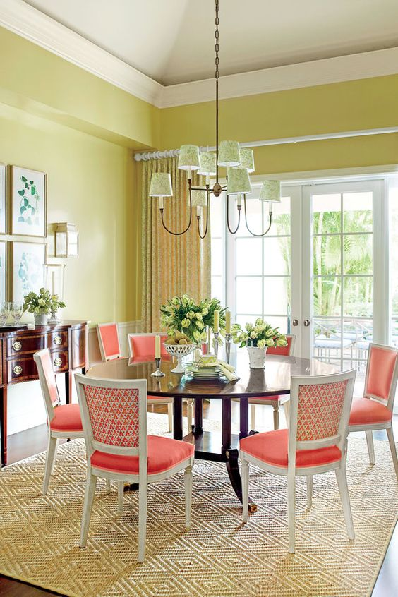 50 Strikingly Modern Dining Rooms That Inspire You To: 36 Best Bright Color Dining Room Design Ideas » EcstasyCoffee