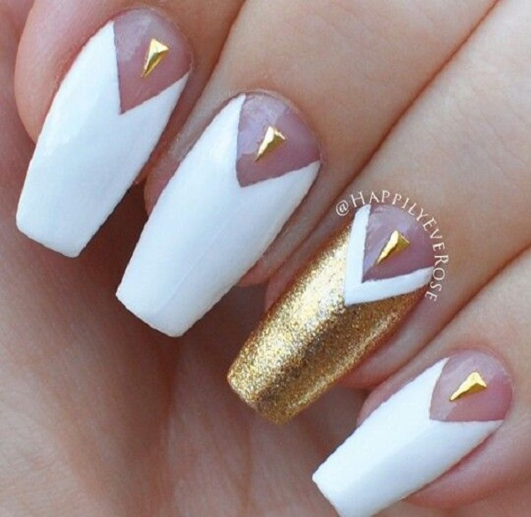 46 Cute Gold Nail Art Designs And Ideas For 2017