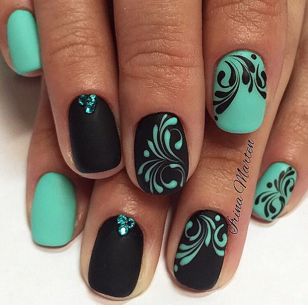 50 Beautiful and Unique Green Nail Art Designs Ideas ...