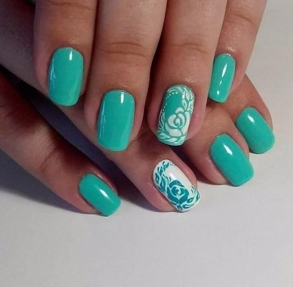 50 Beautiful And Unique Green Nail Art Designs Ideas 187 Ecstasycoffee