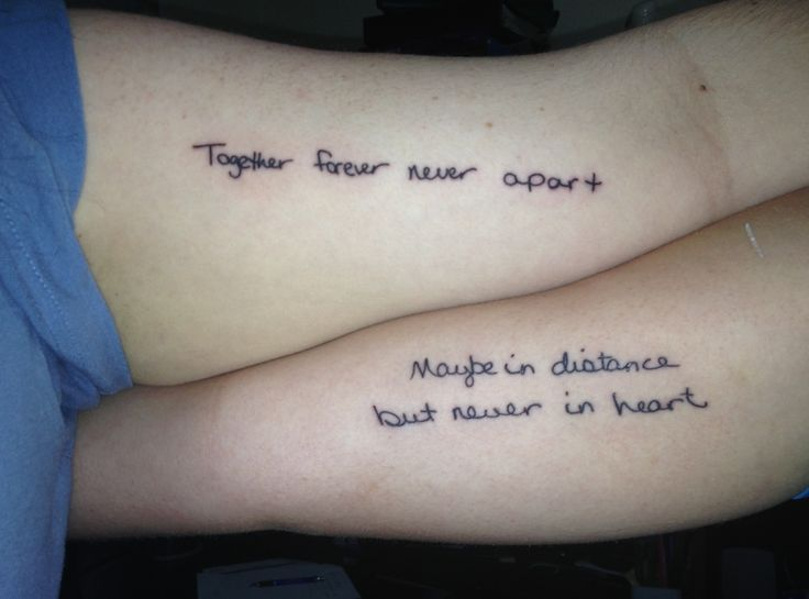 Handwriting Mother Daughter Tattoos