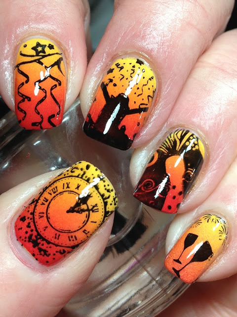 45 gorgeous nail art design for new years eve ecstasycoffee happy new year eve nails 2017 7 prinsesfo Choice Image