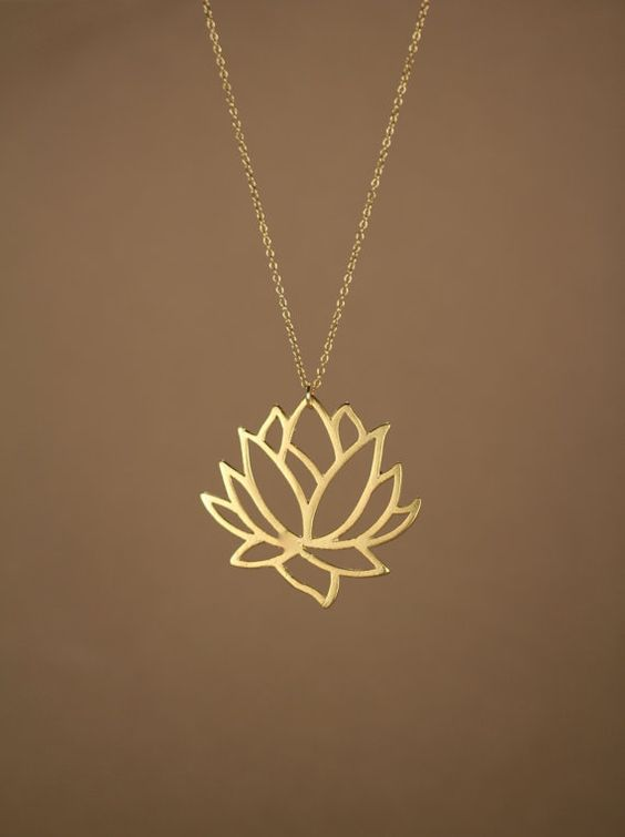 ... Lotus Necklace ...