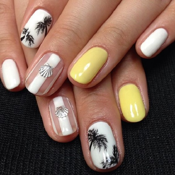 50 Palm Tree Nail Art Ideas That You Will Love 187 Ecstasycoffee
