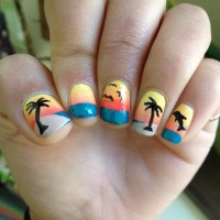 44 Palm Tree Nail Art Ideas That You Will Love