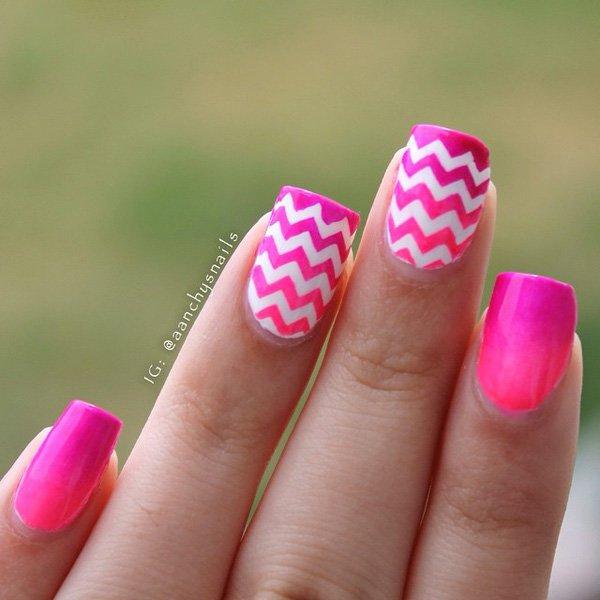 60 Beautiful Pink Nail Art Designs Ideas » EcstasyCoffee