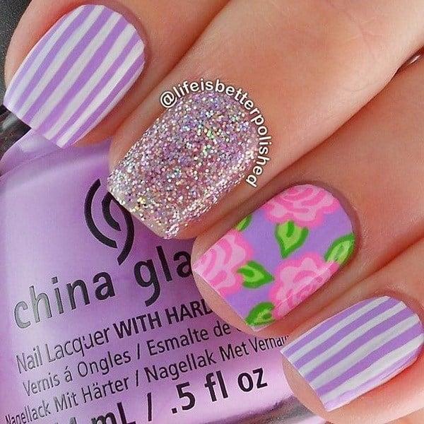44 Lovely Flower Nail Art Design 187 Ecstasycoffee