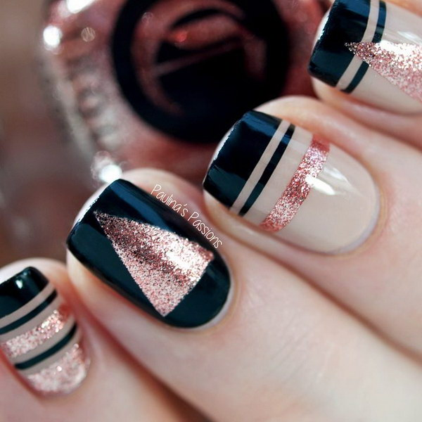 45 Gorgeous Nail Art Design For New Years Eve Ecstasycoffee