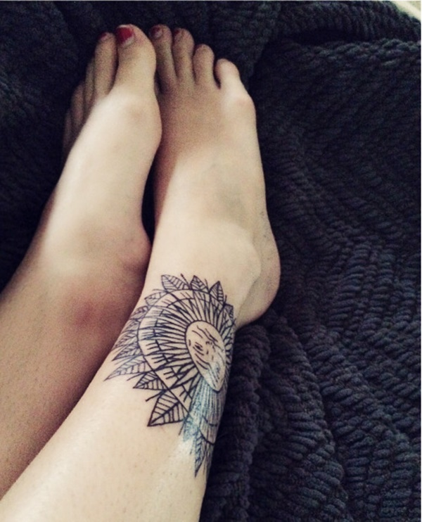 100 Gorgeous Foot Tattoo Design You Must See: 80 Beautiful Ankle Tattoo Design And Ideas For Women