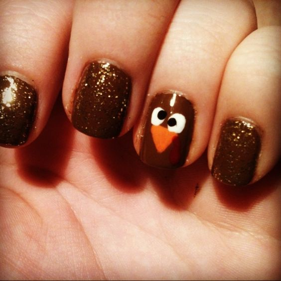 30 Awesome Thanksgiving Nail Art Ideas 187 Ecstasycoffee