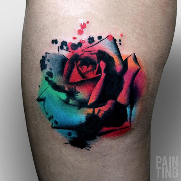 60 most beautiful tattoos ideas and inspiration for women for Abstract rose tattoo