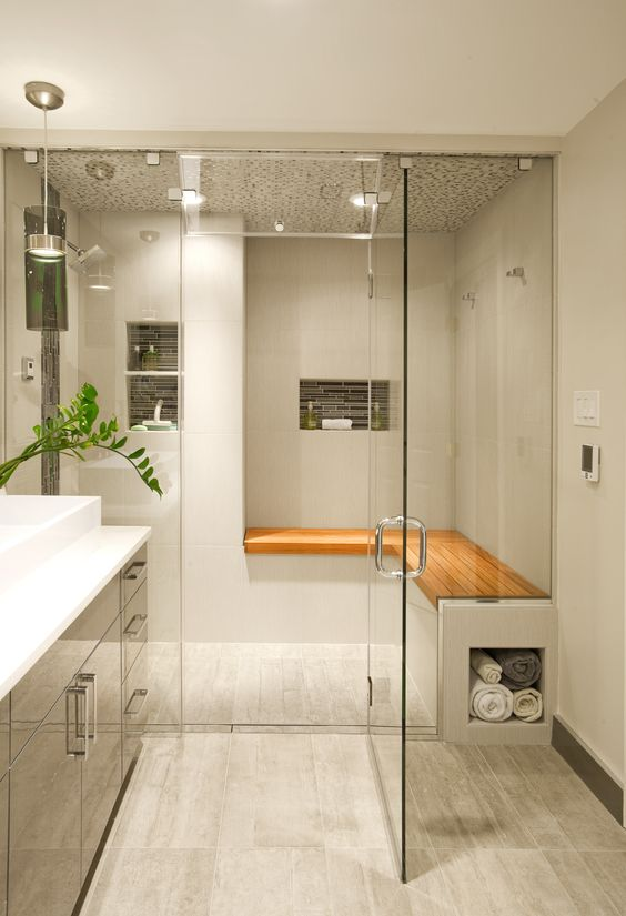 25 Fresh Steam Shower Bathroom Designs Trends » EcstasyCoffee