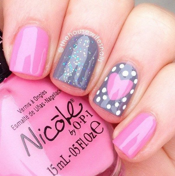 Nail Art Valentines Day: 40+ Romantic And Lovely Heart Nail Art Designs Ideas For