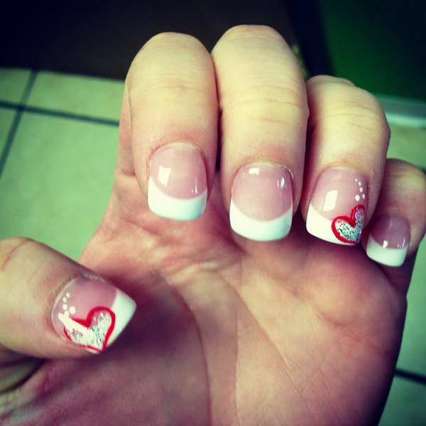 40 Romantic And Lovely Heart Nail Art Designs Ideas For