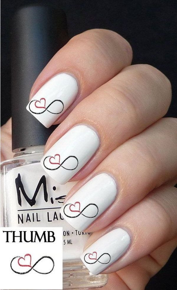 40 romantic and lovely heart nail art designs ideas for heart nail art designs photo collected via pinterest prinsesfo Choice Image
