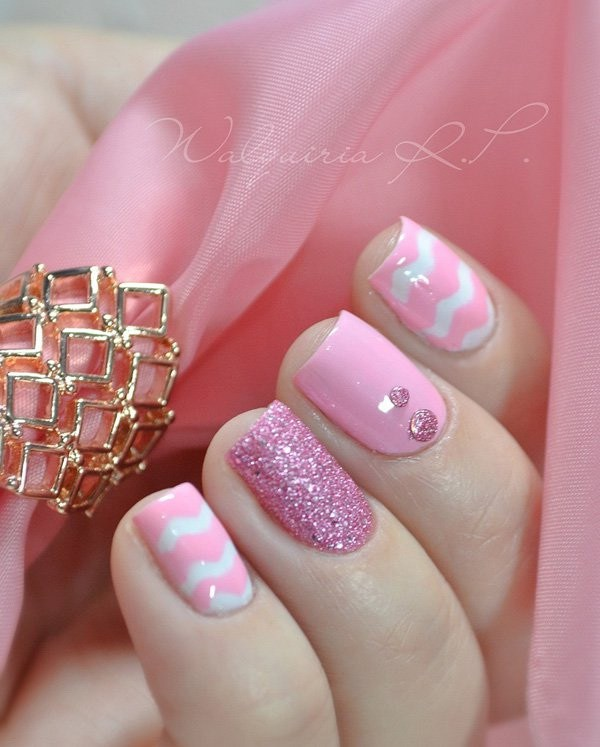 37 Cute Valentine Day Pink Nail Art Design Ideas Page 3 Of 4