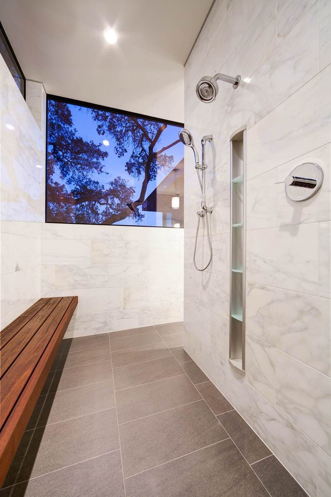 46 Amazing Bathrooms With Walk-In Showers That Will ...