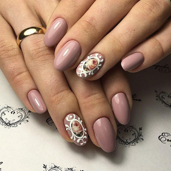47 Gorgeous Rose Nail Art Designs For Summer » EcstasyCoffee