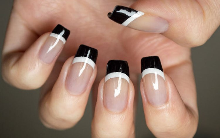 40 Cool Black French Nail Art Designs That Drop Your Jaw Off