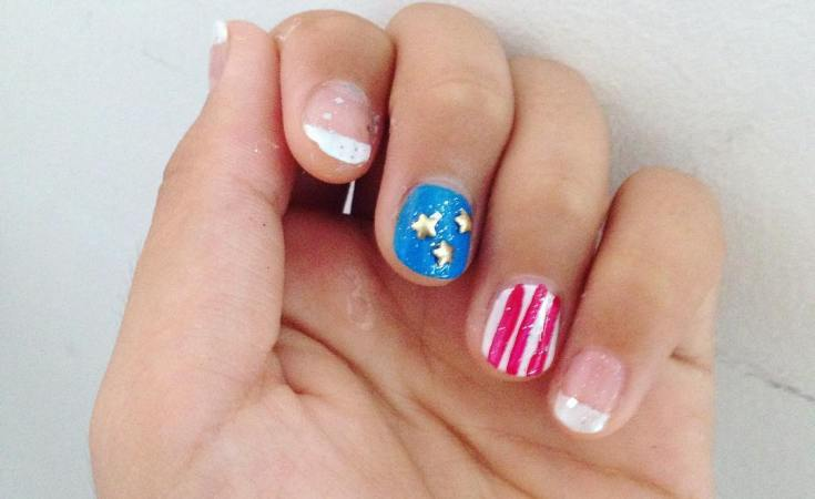 4th July Nails as requested #4thjulynails