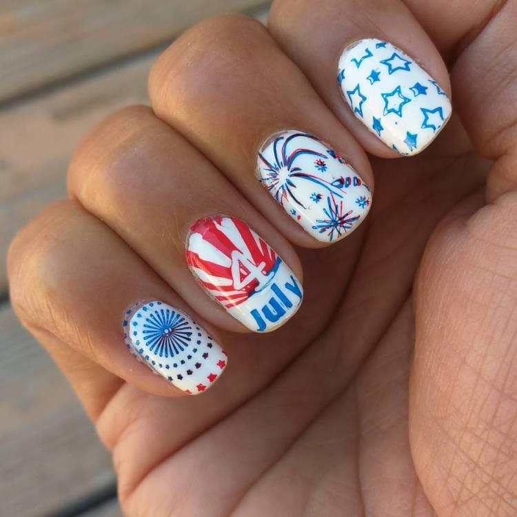 55 Amazingly Patriotic 4th July Nail Art Ideas
