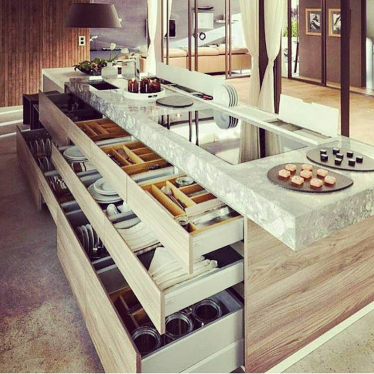 Simple Homedecor Ideas: 35 Conserve Space With Kitchen Drawers And Shelves
