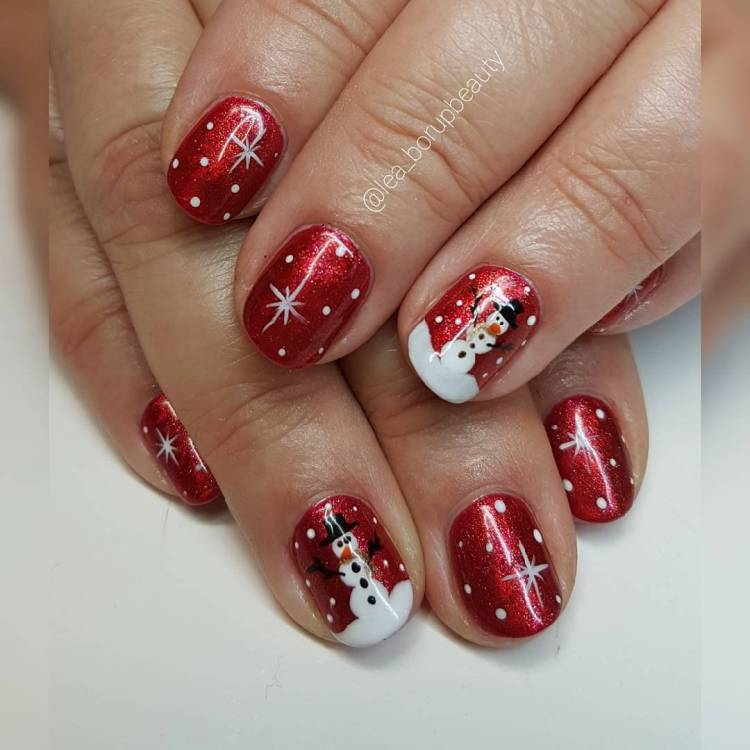 Christmas Designs For Acrylic Nails: 55 Wear The Spirit Of Christmas With These Joyful
