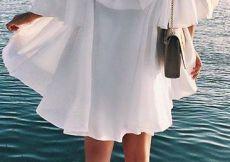Summer Fashion White off-the-shoulder Dress