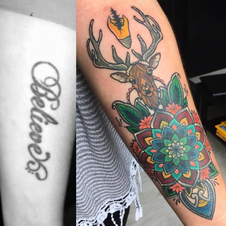 38 Colored Mandala Tattoos Collection: 50 Beautiful Deer Tattoo Ideas To Ink Yourself In