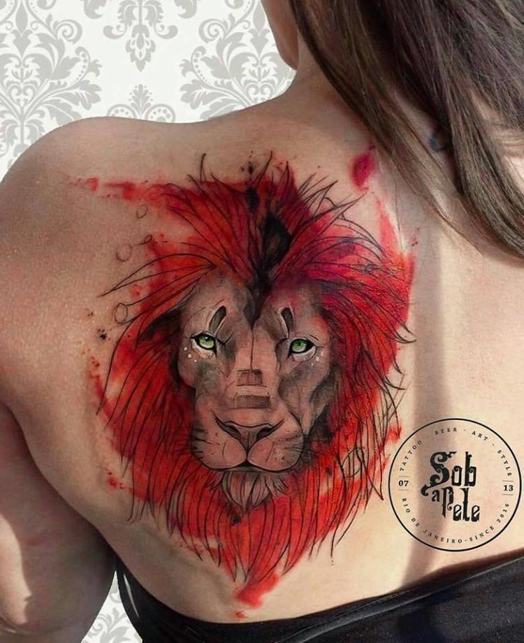😍 #lion #art #tattoo