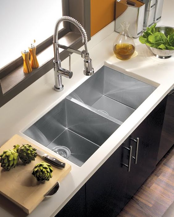 35 Cool Kitchen Sink Ideas to Make Kitchen Washing Task ... on Kitchen Sink Ideas  id=35061