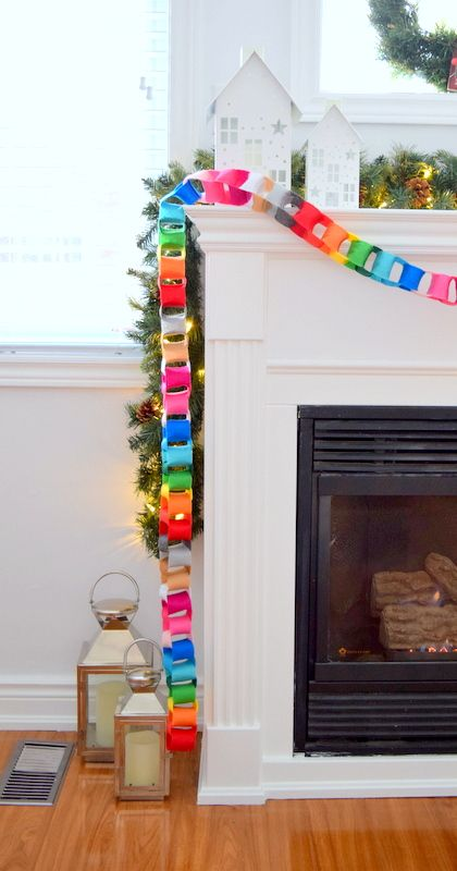How to make a modern felt chain garland - cute and colorful Christmas decor