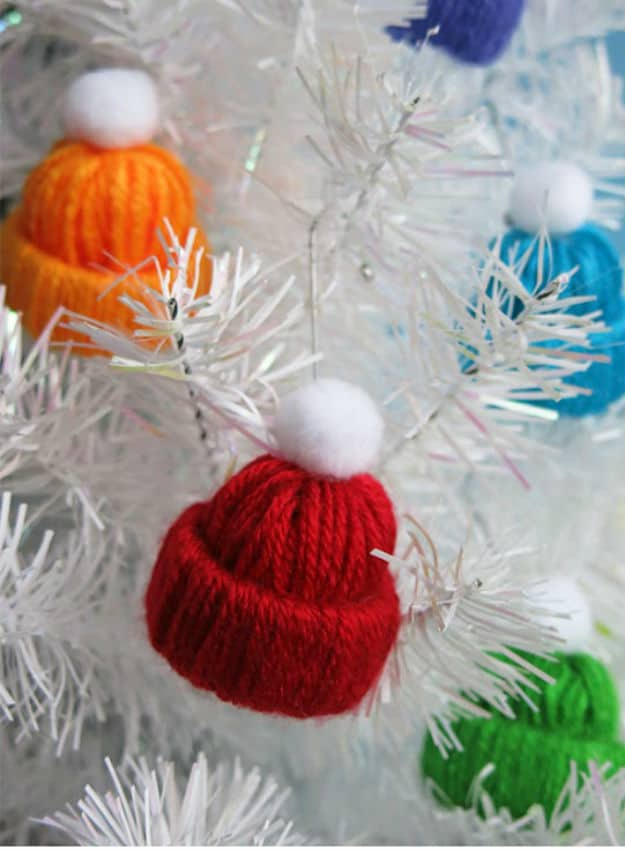 Miniature Winter Yarn Hat via left on peninsula road